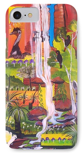 IPhone Case featuring the painting Nature Windows by Lyn Olsen