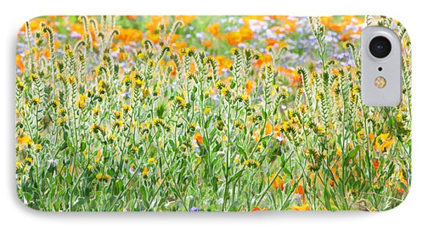 IPhone Case featuring the photograph Nature's Artwork - California Wildflowers by Ram Vasudev