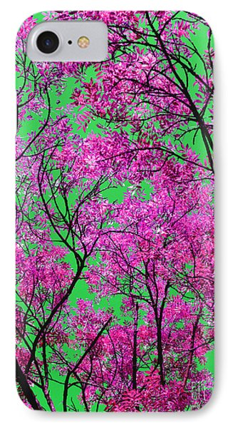 IPhone Case featuring the photograph Natures Magic - Pink And Green by Rebecca Harman