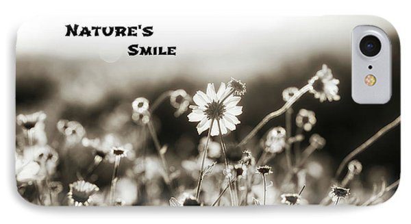 Nature's  Smile Monochrome IPhone Case by Joseph S Giacalone