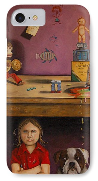 Naughty Child Phone Case by Leah Saulnier The Painting Maniac