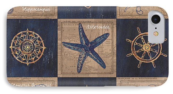 Nautical Burlap IPhone Case by Debbie DeWitt