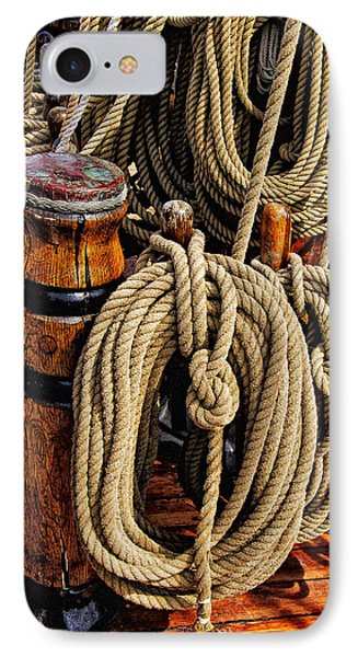Nautical Knots 16 IPhone Case by Mark Myhaver