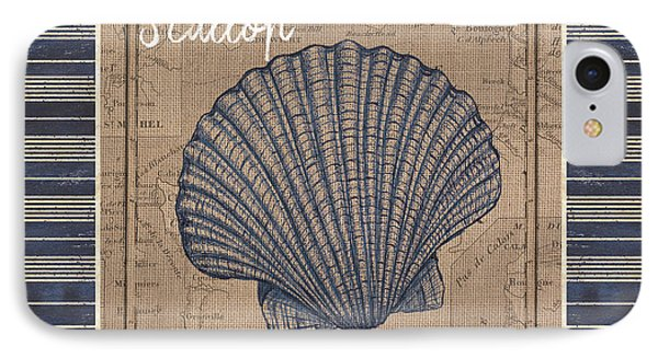 Nautical Stripes Scallop IPhone Case by Debbie DeWitt