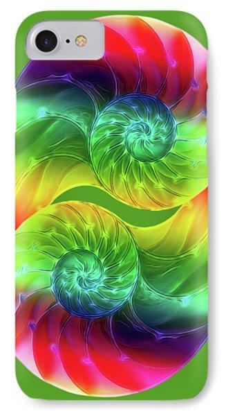 Nautilus Rainbow Vertical IPhone Case
