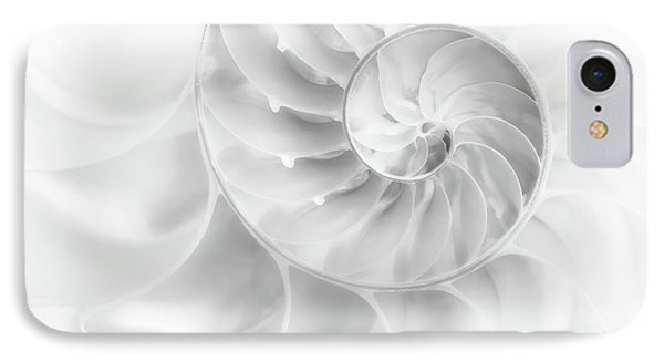 Nautilus Shell In High Key IPhone Case