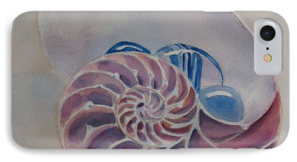 Nautilus With Glass Stones Phone Case by Jenny Armitage