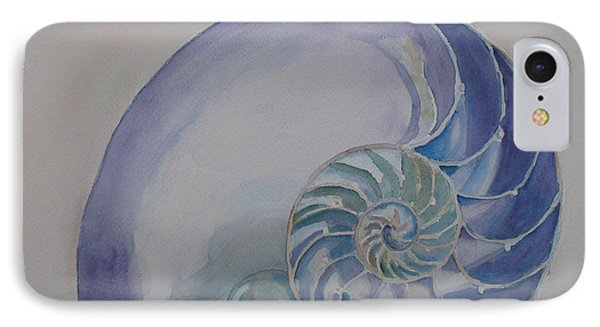 Nautilus With Marble Phone Case by Jenny Armitage