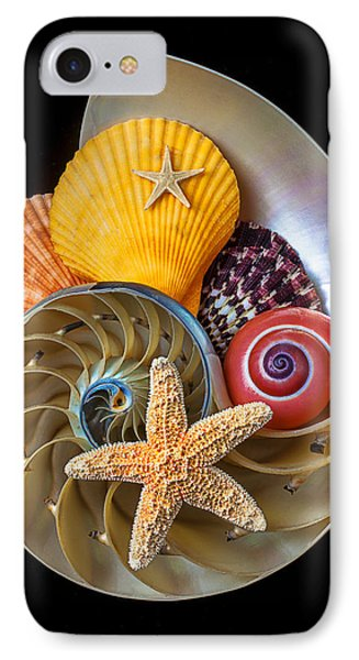 Nautilus With Sea Shells Phone Case by Garry Gay