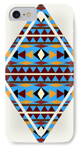 Navajo Blue Pattern Art IPhone Case
