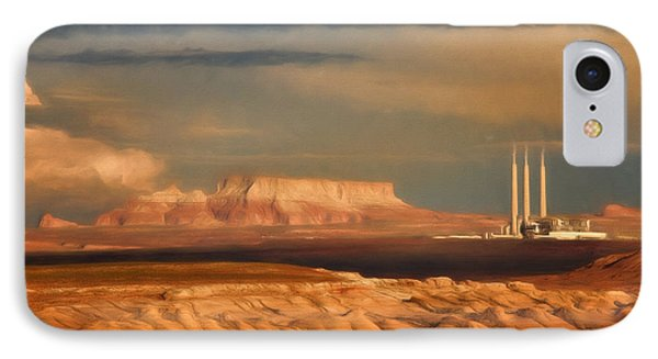 IPhone Case featuring the photograph Navajo Generating Station by Lana Trussell