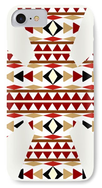 Navajo White Pattern Art IPhone Case