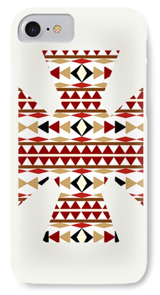 Navajo White Pattern Art IPhone 7 Case by Christina Rollo