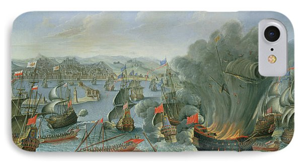 Naval Battle With The Spanish Fleet IPhone Case by Pierre Puget