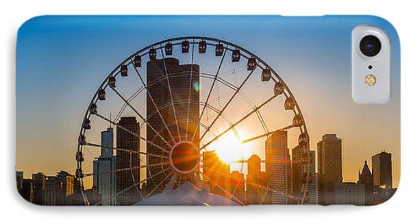 Navy Pier Sundown Chicago IPhone Case by Steve Gadomski