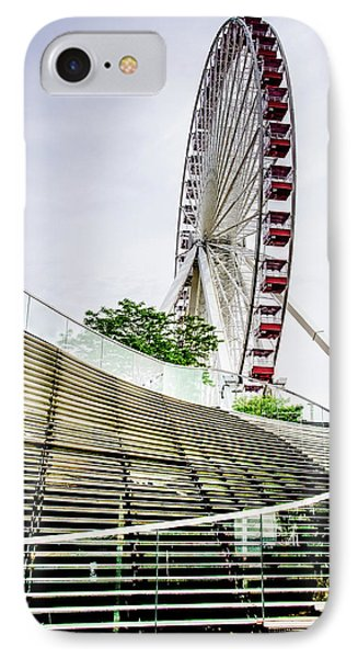 IPhone Case featuring the photograph Navy Pier's Old Ferris Wheel by Julie Palencia