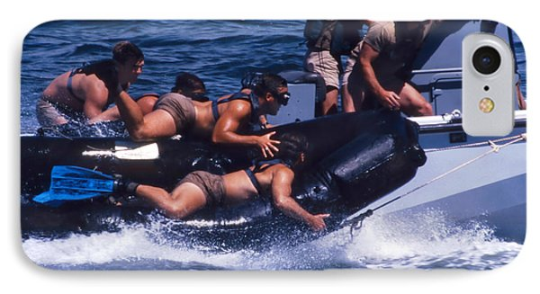 Navy Seals Practice High Speed Boat Phone Case by Michael Wood