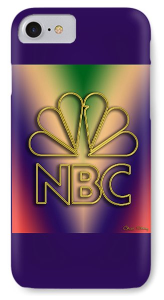 IPhone Case featuring the digital art N B C Logo - Chuck Staley by Chuck Staley