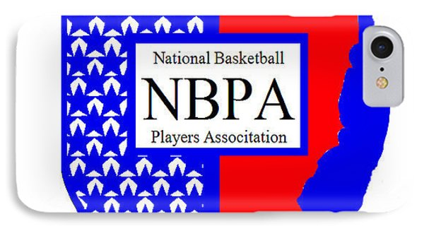 IPhone Case featuring the digital art Nbpa Logo Redesign Sample by Tamir Barkan