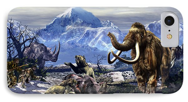 Neanderthals Approach A Group IPhone Case