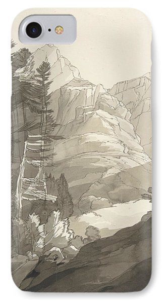 Near Glaris, Switzerland IPhone Case by Francis Towne