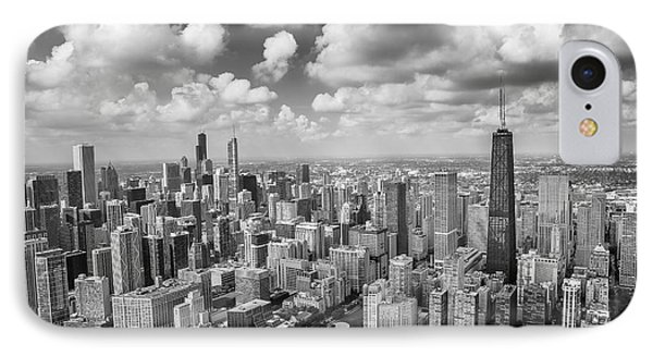 Near North Side And Gold Coast Black And White IPhone Case by Adam Romanowicz