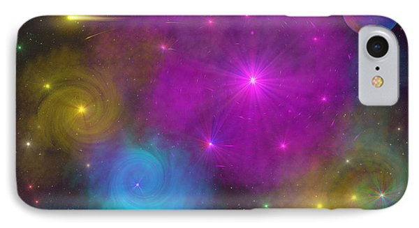 IPhone Case featuring the photograph Nebula Wars by Bernd Hau