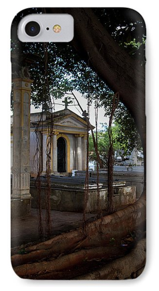 IPhone Case featuring the photograph Necropolis Cristobal Colon Havana Cuba Cemetery by Charles Harden