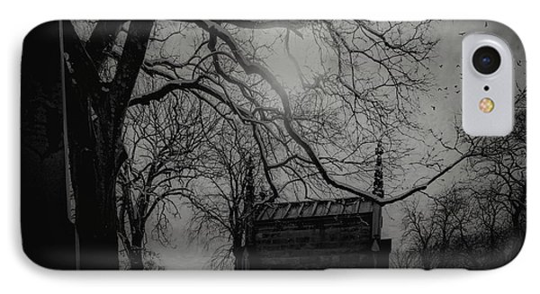 IPhone Case featuring the digital art Necropolis Nine by Chris Lord