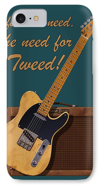 Need For Tweed Tele T Shirt IPhone Case by WB Johnston