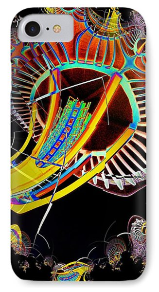 Needle In Fractal 2 IPhone Case by Tim Allen