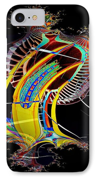 Needle In Fractal 4 IPhone Case by Tim Allen