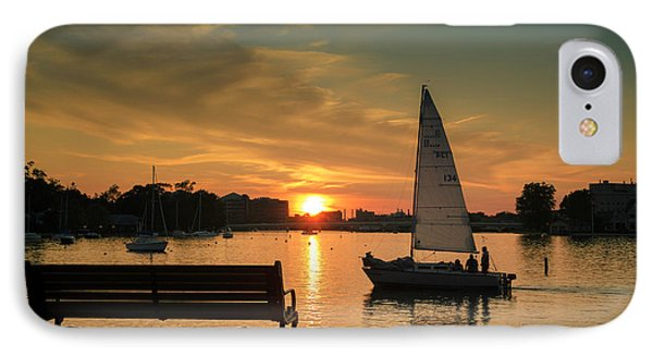 IPhone Case featuring the photograph Neenah Harbor Sunset by Joel Witmeyer