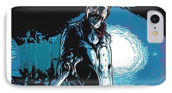 IPhone Case featuring the digital art Negan by Antonio Romero