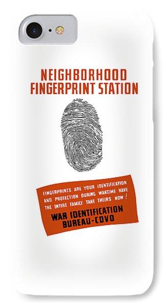 Neighborhood Fingerprint Station Phone Case by War Is Hell Store