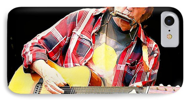 Neil Young IPhone 7 Case by John Malone