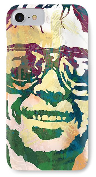 Neil Young Pop Stylised Art Poster IPhone 7 Case by Kim Wang