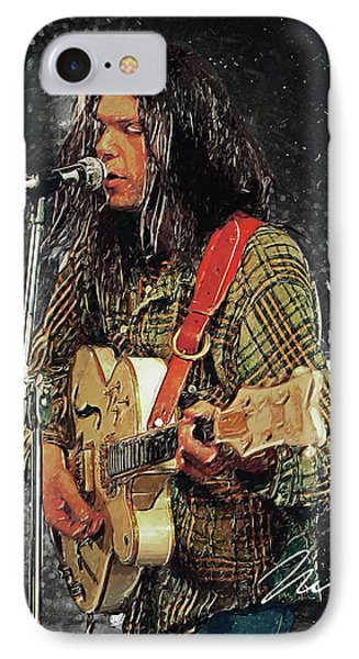 Neil Young IPhone Case by Taylan Apukovska