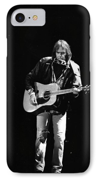 Neil Young IPhone 7 Case by Wayne Doyle