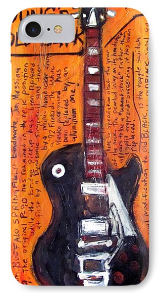 Neil Young's Old Black Phone Case by Karl Haglund