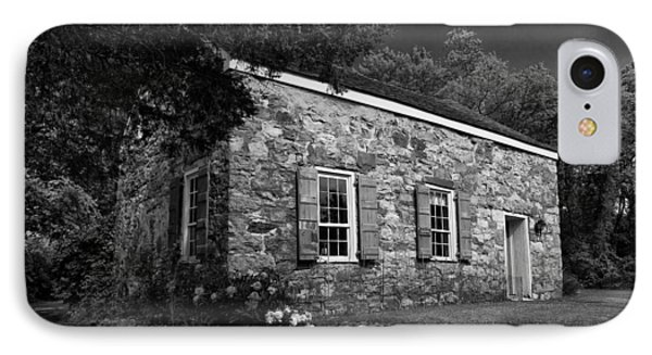 Neldon - Roberts Stonehouse Montague New Jersey Black And White IPhone Case by David Smith