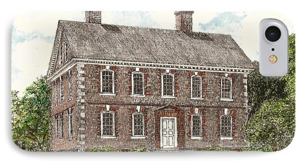 Nelson House Yorktown Virginia IPhone Case by Stephany Elsworth