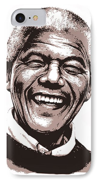 Nelson Mandela IPhone Case by Greg Joens