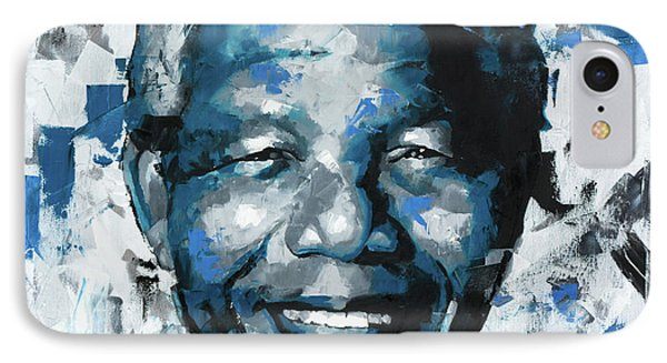 IPhone Case featuring the painting Nelson Mandela II by Richard Day