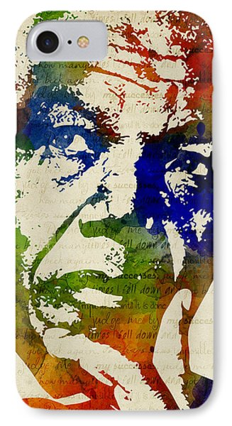 Nelson Mandela Watercolor IPhone Case by Mihaela Pater