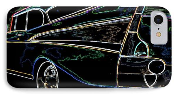 Neon 57 Chevy Bel Air IPhone Case