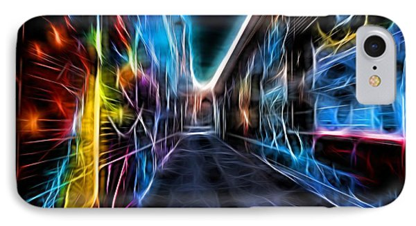 IPhone Case featuring the photograph Neon Aleey by Michaela Preston