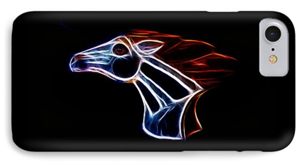 Neon Bronco II Phone Case by Shane Bechler