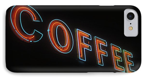IPhone Case featuring the photograph Neon Coffee by Jim and Emily Bush