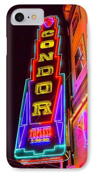 Neon Condor San Francisco IPhone 7 Case by Garry Gay